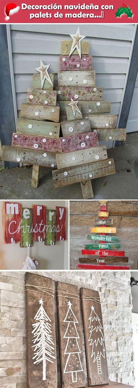 Decoración navideña con palets de madera. Decoración de ...