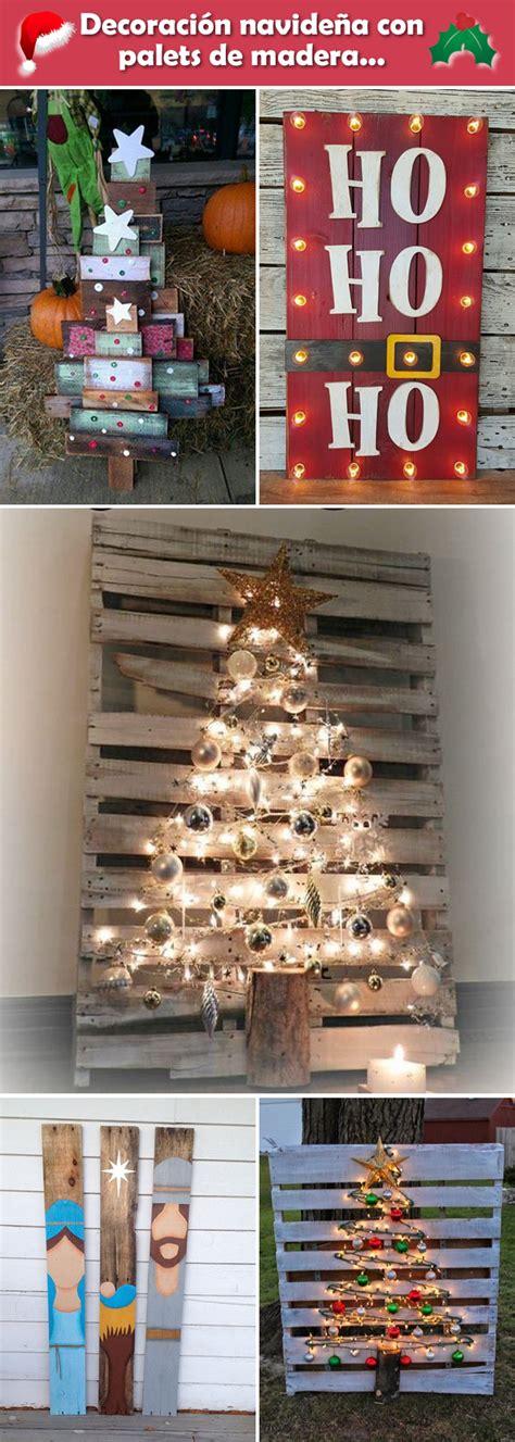 Decoración navideña con palets de madera. Tarimas de ...