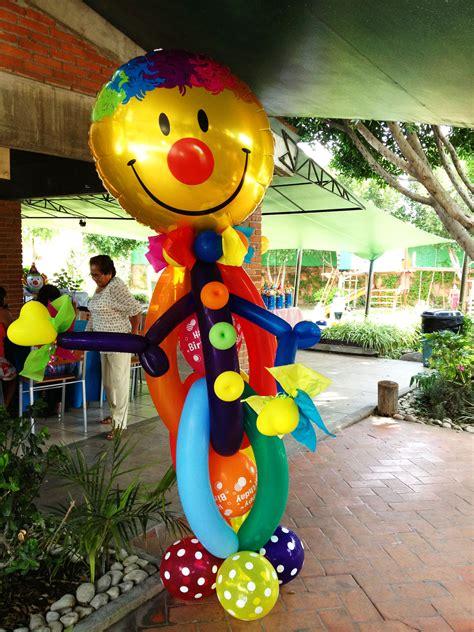 Decoración payasos | Adornos con globos | Decoración con ...