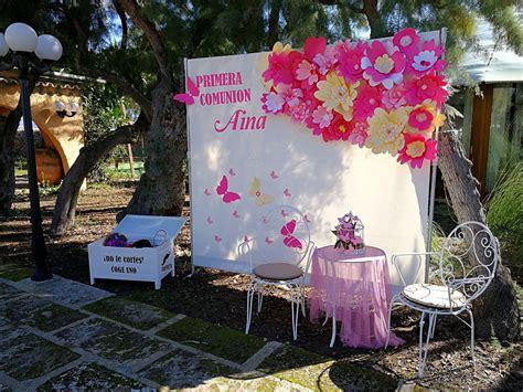 Decoración photocall primera comunión niña #decor #flores ...