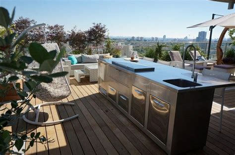 Decoracion terraza aticos - diseños modernos de gran altura