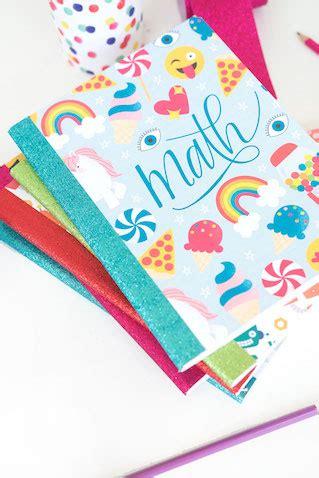 Decorar cuadernos escolares con plantillas para imprimir ...