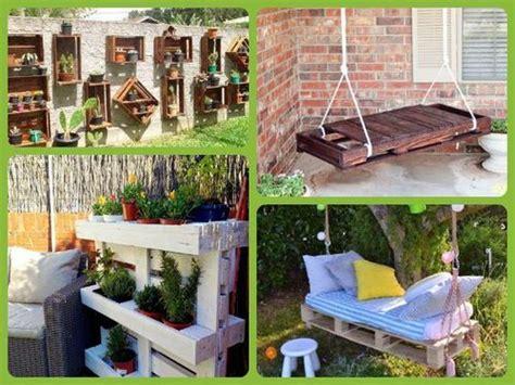 Decorar jardines con palets