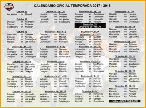 Definen fechas de temporada 2017 2018