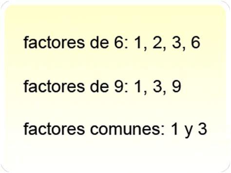 Definicin: factor comn  en aritmtica