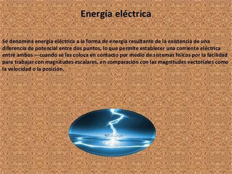 Definicion de energia electrica