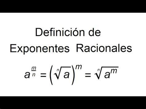 Definición de Exponentes Racionales   YouTube