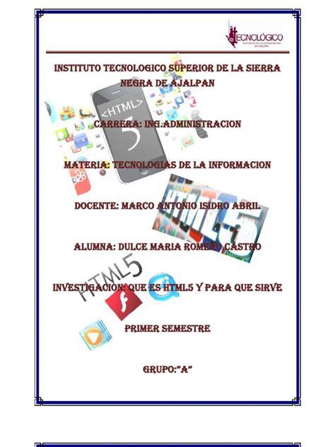 Definicion y Funciones de HTML5 2 | Web Page | World Wide Web