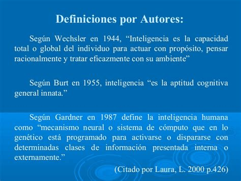 Definiciones Inteligencia