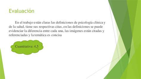 Definiciones psicologia salud y clinica