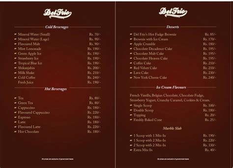 Del Frio, Saddar Restaurant in Karachi   Menu, Timings ...