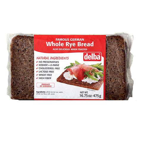 Delba Whole Rye Bread 475g