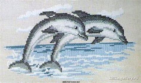 Delfines | Punto de cruz   Colección de patrones punto de ...