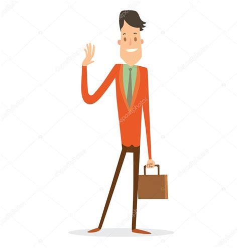 Delgado hombre de negocios con un pelo negro — Vector de ...