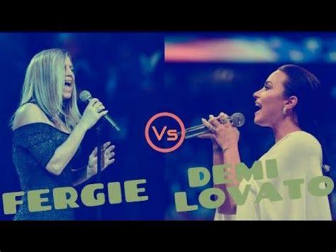 Demi Lovato VS Fergie Singing the  National Anthem .   YouTube