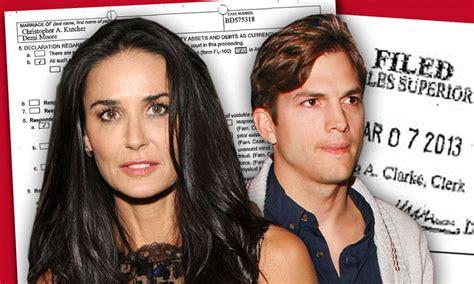 Demi Moore seeks spousal support from Ashton Kutcher in ...