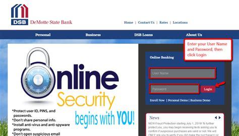 DeMotte State Bank Online Banking Login - CC Bank