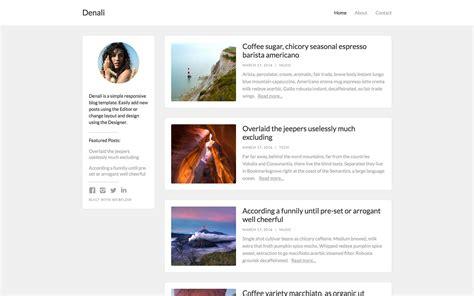 Denali   Blog HTML5 Responsive Website Template
