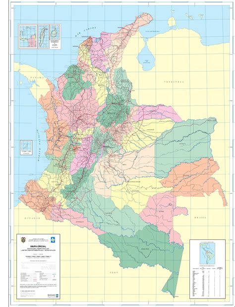 Departamentos de Colombia 2004 - Tamaño completo
