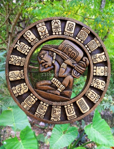 depositphotos_5282982 Calendar Mayan culture wooden on ...