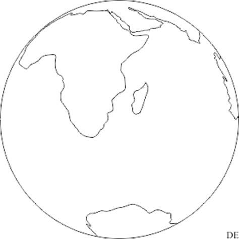 Der Planet Erde   Bild zum Ausmalen | PDF Drucken Kostenlos