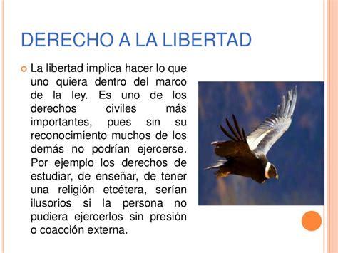 Derecho a la libertad exposicion