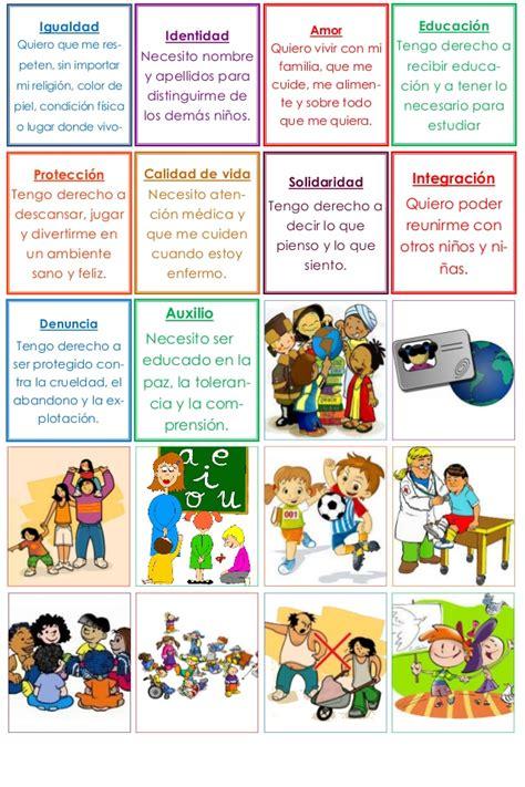 Derechos de los niños memorama