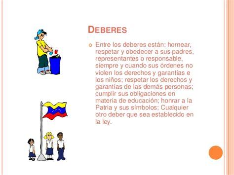 Derechos y deberes del niño, niña y adolescente (LOPNA)