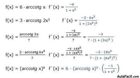 Derivadas trigonométricas inversas   Derivada de la ...