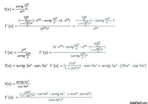Derivadas trigonométricas inversas   Derivada del ...