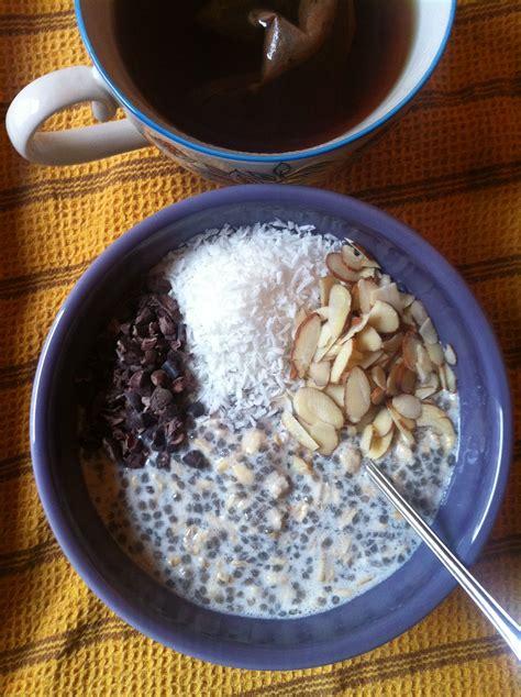 =Desayuno saludable= 1/2 taza de copos de avena 1 taza de ...
