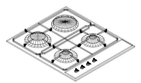 Descarga gratuita del Bloque AutoCAD: muebles de cocina en ...