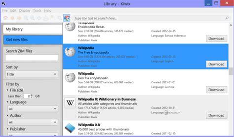 Descarga Wikipedia para leer sin conexión en Windows, Mac ...