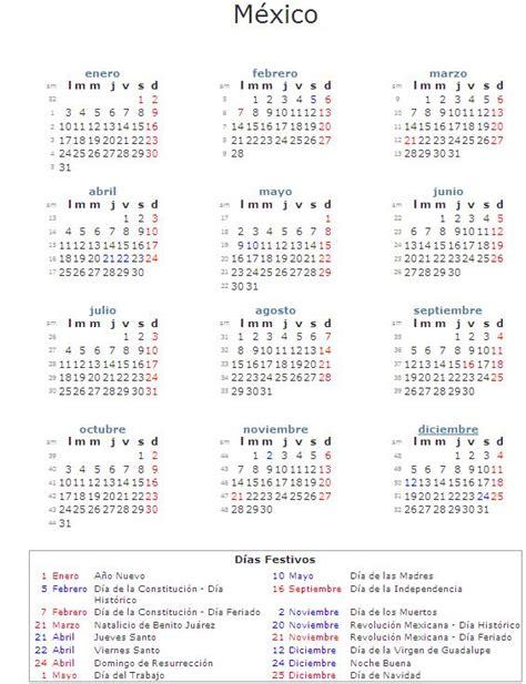 Descargar calendario 2011 México