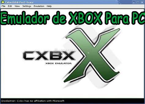 Descargar CXBX (VERSIÓN 0.8.7C) emulador de XBOX Para PC ...