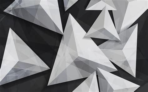 Descargar fondos de pantalla triángulos, 4k, 3d, arte ...
