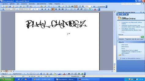 Descargar letras de grafittis para word - YouTube