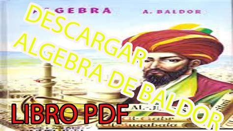 DESCARGAR libro ALGEBRA DE BALDOR 2015( Descargar libro en ...