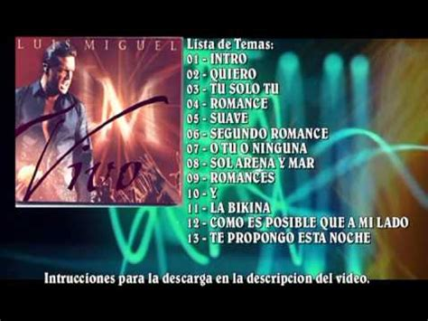 Descargar Luis Miguel 2000 Vivo MEGA - YouTube