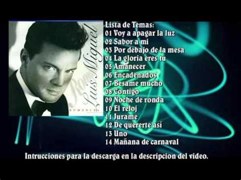 Descargar Luis Miguel 2001 Romances MEGA - YouTube