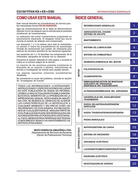 Descargar Manual de taller Honda Titan / Zofti   Descargas ...
