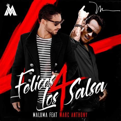Descargar MP3: Maluma Ft Marc Anthony   Felices Los 4 ...