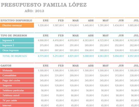 Descargar Plantilla Excel Presupuesto Personal ...