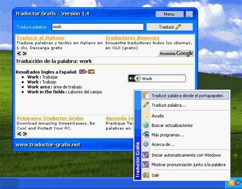 Descargar Traductor Ingles Espanol Y Pronunciacion ...