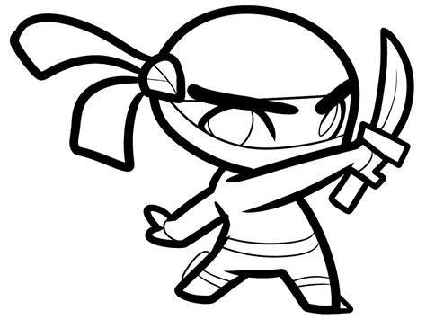 Descargue e imprima gratis dibujos para colorear – ninja
