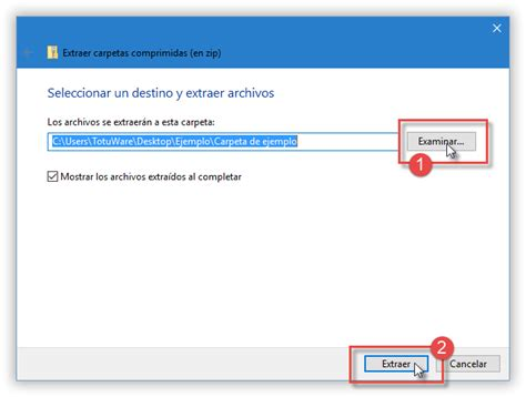 Descomprimir y Comprimir archivos ZIP en Windows 10…sin ...