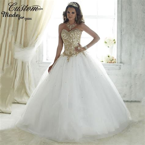Desconto Vestidos De 15 Anos branco Debutante bola vestido ...