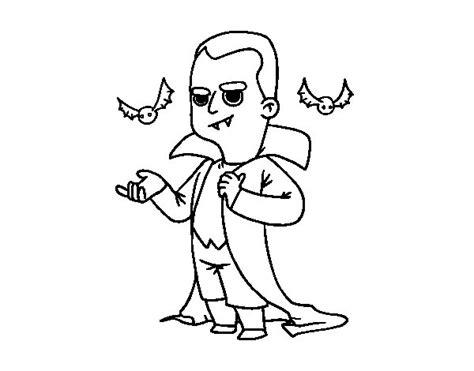 Desenho de Disfarce de vampiro do Halloween para Colorir ...