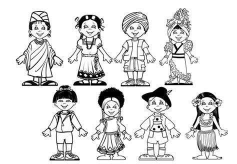 Desenho de Diversidade cultural para colorir   Tudodesenhos