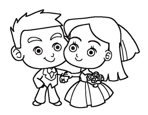 Desenho de Noivos para Colorir   Colorir.com